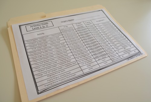 Use a simple file folder to differentiate homework assignments for your students!