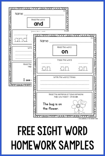 Help students practice sight words at home with these predictable, engaging sight word homework sheets!