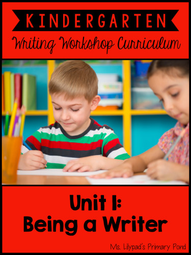This is the unit I use to launch my Kindergarten writing workshop! We spend the first couple of weeks learning procedures and routines, drawing with details, and labeling pictures.