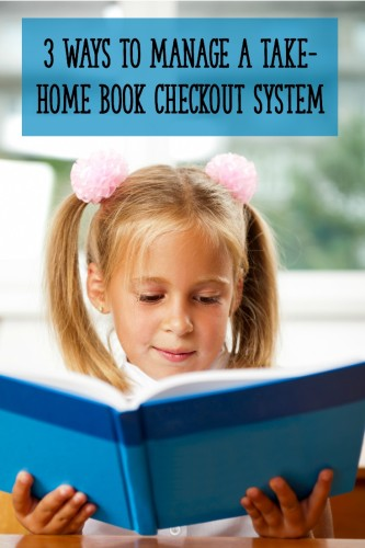 Here are 3 different ways to set up a take-home book checkout system in your classroom! The post also includes the pros and cons of each system.
