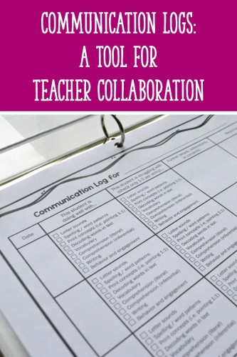 Use these communication logs to collaborate with other teachers and help struggling students succeed!