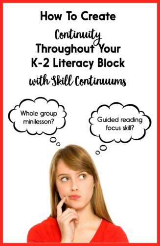 Continuity is essential for a successful literacy block! We want our whole group, small group, and individual instruction to help our students reach a clear goal. But what if - for example - we want to teach character traits, and some of our students need to work on simpler skills, like identifying character feelings? Or what if some of our students already have character traits down pat? How do we differentiate while still keeping our instruction cohesive? This is a challenge I've faced, and my personal solution is to use a skill continuum! Read about how I use skill continuums in Kindergarten, first grade, and second grade in this blog post - and download them for FREE!