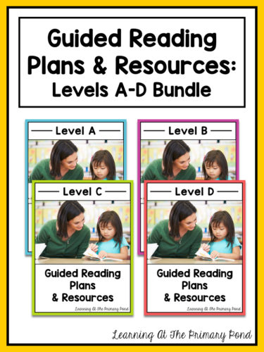 Kindergarten guided reading bundle from Learning At The Primary Pond